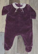 9cf4541785714 Superbe Pyjama en velours violet DPAM fille 1 mois ~ CYN190