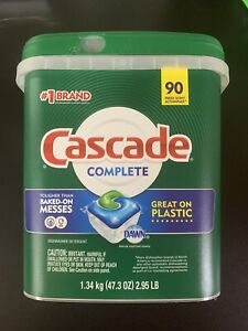 Cascade Complete 90 Fresh Scent ActionPacs In Plastic Tub-Phosphate Free