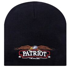 Embroidered Patritotic American Eagle USA US Patriot Beanie Cap Stocking Hat