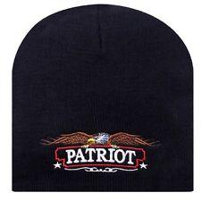 Embroidered Patritotic American Eagle USA US Patriot Beanie Cap Stocking Hat