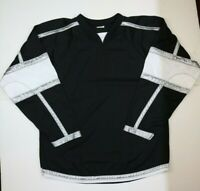 Vintage Hockey Jersey AK Athletic Knit Mens Large Made in Canada Black White