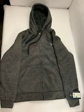 NWT Men's Gray US Polo Assn Fleece Polyester Zip Up Hoodie Size Large L 105917K5