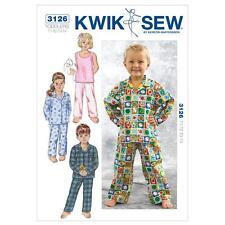 KWIK SEW SEWING PATTERN TODDLERS' SLEEPWEAR SIZE T1 T2 T3 T4 K3126