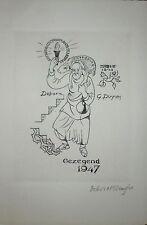 Debora Geertruida DUYVIS gravure originale signée 1947 religions