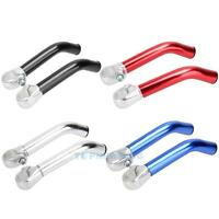 1Pair Bicycle MTB BMX Mountain Bike Lock-on Alloy Handlebar Grip Handle Bar Ends