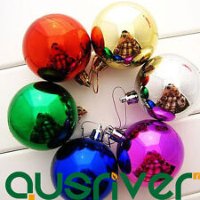 6pcs Colorful Ball Hanging Ornament Christmas Decoration Holiday Tree Hanger
