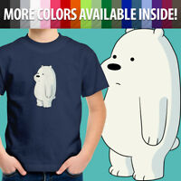 We Bare Bears Baby Ice Bear Cub Kawaii Toddler Kids Boys Girl Tee Youth T-Shirt