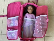 American Girl Doll Truly Me With Travel Case And Accessories And Clothes