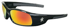 MCR CREWS SWAGGER SR11R BLACK FRAME WITH FIRE MIRROR LENS SAFETY GLASSES NEW