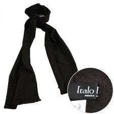 New ITALO FERRETTI Dark Brown Wool Cashmere Silk Scarf Shawl Wrap Burqa NIB $595