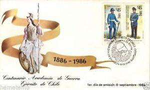 Chile 1986 FDC Centenario Academia de Guerra del Ejercito