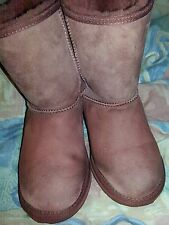 EMU Australia Womens Stinger Lo Short Shearling Leather Boot Brown Size 7. EUR38