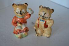 Vintage Japan Porcelain Bear Salt Pepper Shakers