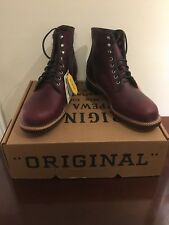 Blem Sz 11 D Chippewa 1939 Service Boots. #4353. Burgundy Made in USA