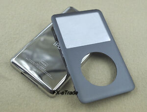 Gray Front Faceplate Cover + Metal Back Case Housing for iPod 7th Classic 160GB