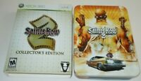 Saints Row 2 Collector's Edition Xbox 360 COMPLETE Money Clip USB Poster Map Art