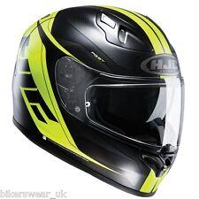 HJC FG-ST Crono Green/Black full Face Motorcycle/Motorbike Helmet with Sun visor