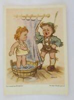 Kinder, Das neugierige Brüderlein, 1950, Arnulf, Mundgemalt  ♥