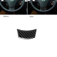 Kohlefaser Innere Lenkrad Dekor Aufkleber Abdeckung Für BMW 5er E60 2004-2010