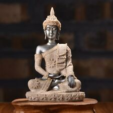 Resin Sandstone Sakyamuni Buddha Meditative Seated Statue Furnishing Article