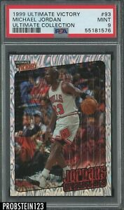1999-00 Ultimate Victory #93 Michael Jordan Bulls HOF 64/100 PSA 9 MINT POP 3