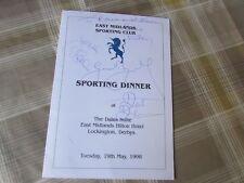 David Duckham Rugby Union Geoff Boycott + other 1998 Original Hand Signed Menu