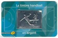 Y&T 738 timbre Handball en argent Salon Planète Timbres 2012 obl. 1er jour LUXE