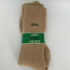Vintage Izod Lacoste socks tan new with tags Free Shipping