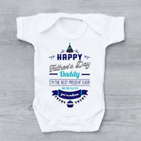 Happy Fathers Day Daddy Mum Says You're Welcome Boys Baby Vest Grow Bodysuit
