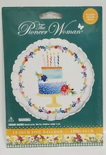 "PIONEER WOMAN - (HAPPY) BIRTHDAY CAKE BALLOON - 18"" INCH / FOIL - HELIUM or AIR"