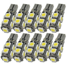 Safego 10x T10 Led Canbus White 5050 194 W5W led 9 SMD Car Side Wedge Light Bulb
