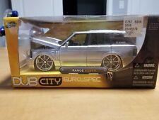 Jada Toys Dub City Euro Spec Range Rover silver 1:24 nib rare,2006
