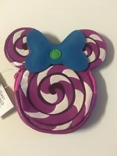 Disney Parks Shanghai Minnie Mouse Candy Swirls Coin Purse Cosmetic Bag New