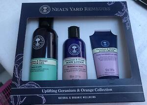Neals Yard Uplifting Geranium&Orange Collection 3 Item Gift Set Natural &Organic