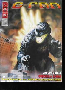 G-Fan Godzilla Kaiju Gamera Fan Magazine #52 Aug/Sept/Oct 2001