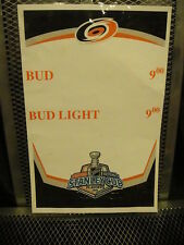 CAROLINA HURRICANES 2006 Stanley Cup Budweiser Consession Stand Beer Sign