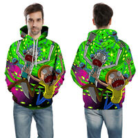 Women/Men Rick and Morty Funny 3D Print Casual Hoodie Sweatshirt Pullover Jumper