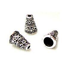 100 Caps calottes coupelles Cône 10x7x3.5mm Perles apprêts créat  bijoux _A251 g