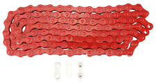 KMC Z1 Bicycle Chain Single Speed 1/2 x 1/8 inch 112L Red
