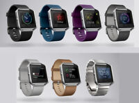 Fitbit Blaze FB502SB Smart Fitness Watch Small Large Steel Plum Black Blue Brown