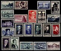 L'ANNÉE 1952 Complète, Neufs * = Cote 70 € / Lot Timbres France n°919 à 939