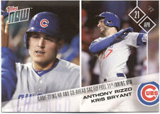 Anthony Rizzo Kris Bryant Chicago Cubs Topps Now #69 April 21 2017 Baseball Card
