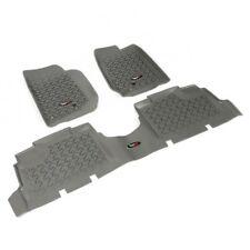 Fußmatten Fußschalen Set 3-teilig grau Jeep Wrangler JK 07-18 4-Türer 14987.04