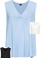 3 Damen Shirt Tops A Form weiß schwarz blau Viskose Elasthan 32-48 neu 720 86 30