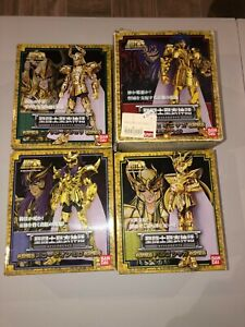 Lot de 4 Myth Cloth/Saint Seiya (Bandai) : Milo/Saga gemini/Shura/Shaka vierge