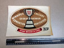 1950's Star Weekly Canadian Football League CFL Mail In Premium Patch Crest