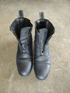 Ariat Paddock Boots Used Black Leather Size 7.5