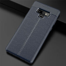 For Samsung Galaxy Note 9 8 5 4 3 Ultra-Thin Rubber TPU Leather Back Case Cover