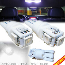 2x BOMBILLAS 5 LED BLANCO SMD T10 W5W FESTOON MATRICULA INTERIOR GUANTERA CAR