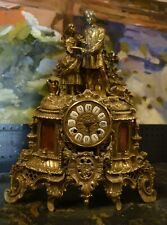 Beautiful....Vintage Brass Mantel Clock Hermle FHS Clockworks